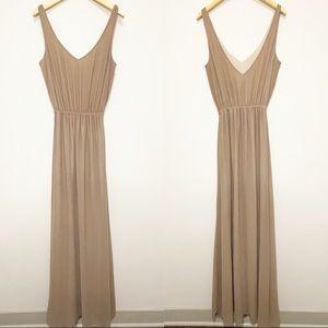 Show Me Your Mumu Tan Kendall Maxi Dress Mocha M